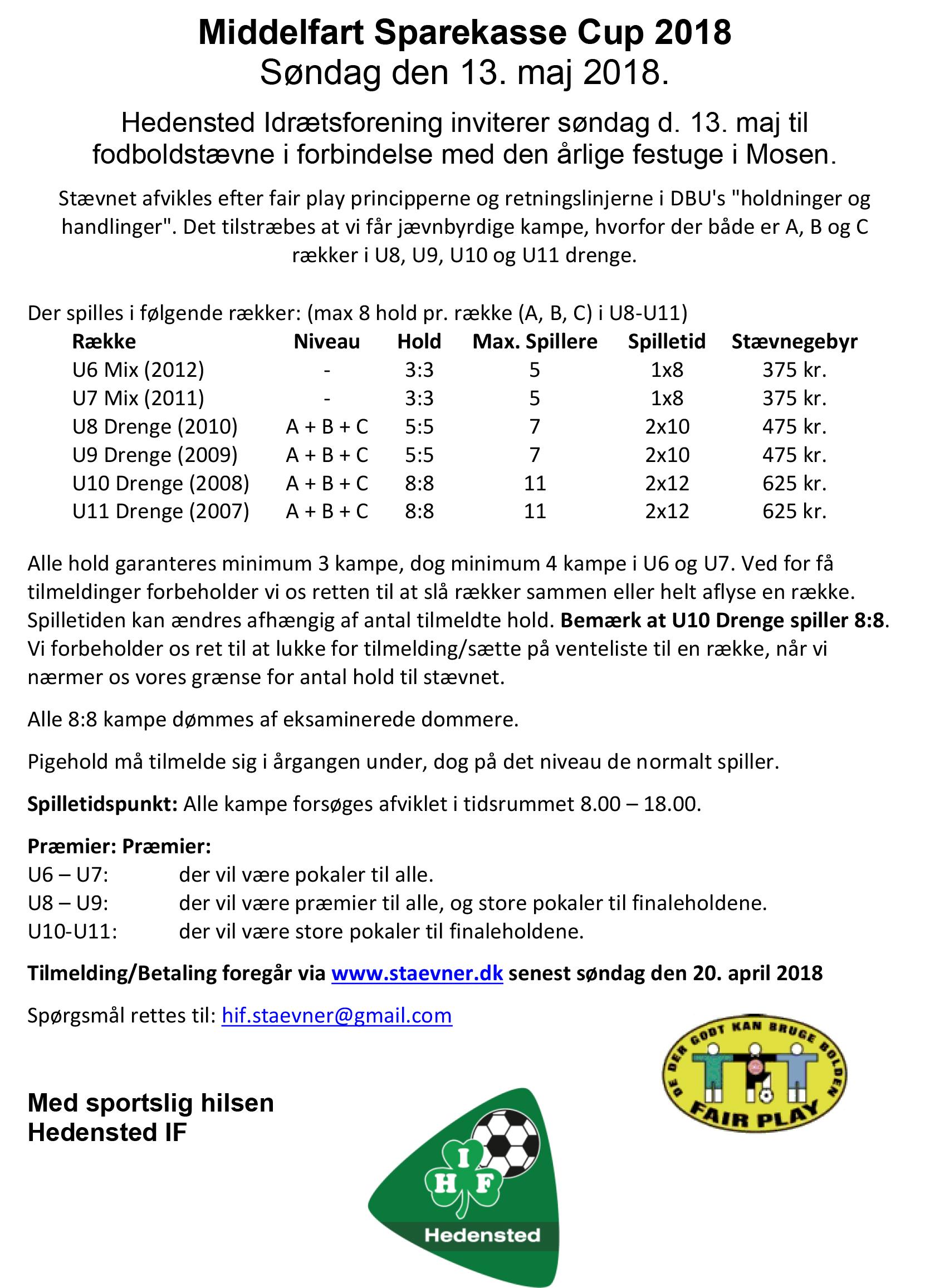 Middelfart Sparekasse Cup 2018_Invitation_Hedensted IF